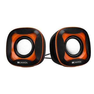 CANYON Wired USB 2.0 Computer Speakers 6W, Orange CNS-CSP202BO