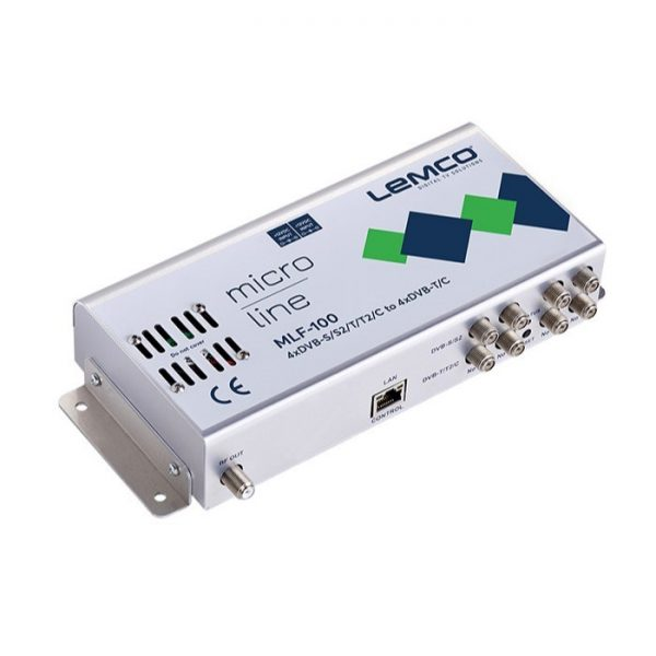 LEMCO Headend MLF-100 με 4 Εισόδους DVB-S/S2/T/T2/C & 4 Εξόδους DVB-T/C
