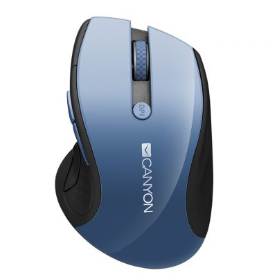 CANYON Wireless Mouse with Blue LED Sensor 1600DPi 6 Buttons, Blue CNS-CMSW01BL