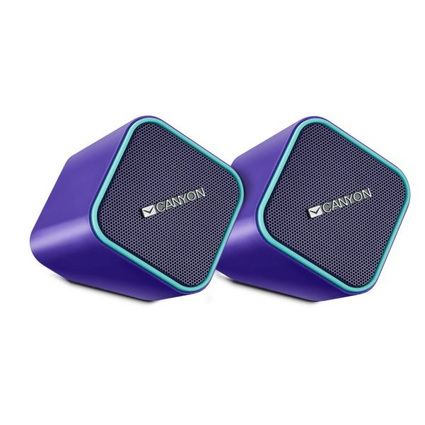 CANYON Compact Stereo Speakers 2x3W, Purple CNS-CSP203PU