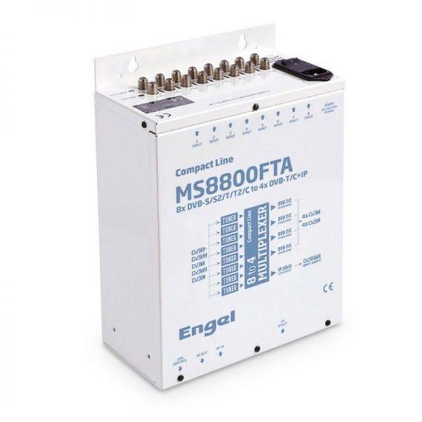 Engel Επαγγελματικό Headend 8 Εισόδων DVB-S2, DVB-T2, DVB-C & 4 Εξόδων DVB-T/C RF + Gigabit IP MS8800FTA