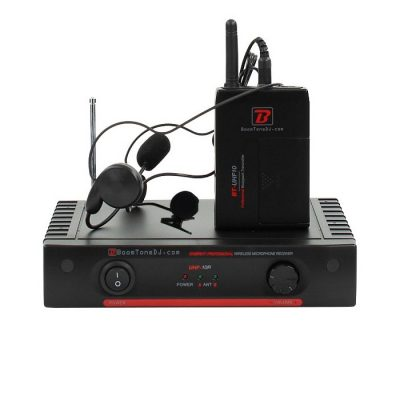 Boomtone DJ Επαγγελματικό UHF Ασύρματο Σύστημα με Μικρόφωνα Πέτου & Κεφαλής & 1 Βodypack UHF10HL F3 555.8Mhz