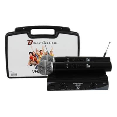 Boomtone DJ Ασύρματο Σύστημα με 2 Μικρόφωνα Χειρός VHF20M F5-F7 215.3Mhz/217.5Mhz