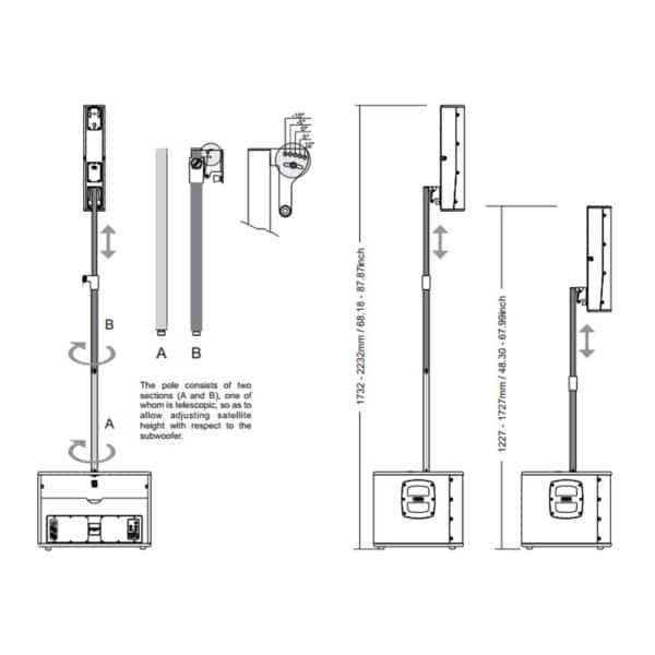 FBT VERTUS CS1000 Σύστημα Column Line Array 1000W 4