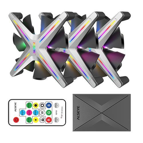 Alseye X12 Case Cooler 12cm RGB-Fan Kit