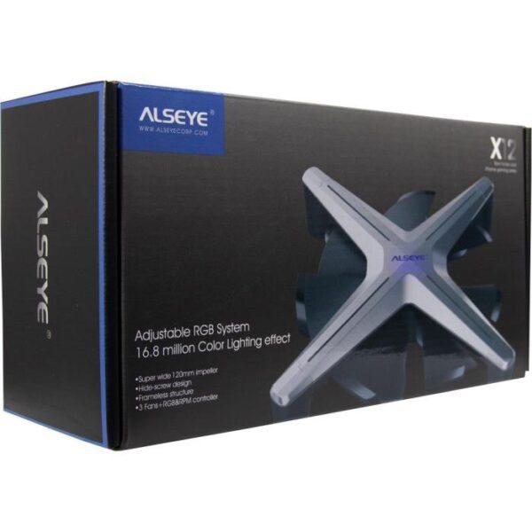 Alseye X12 Case Cooler 12cm RGB-Fan Kit 1
