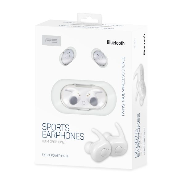 FS FS1083W Sports Earphones with Microphone, White 2