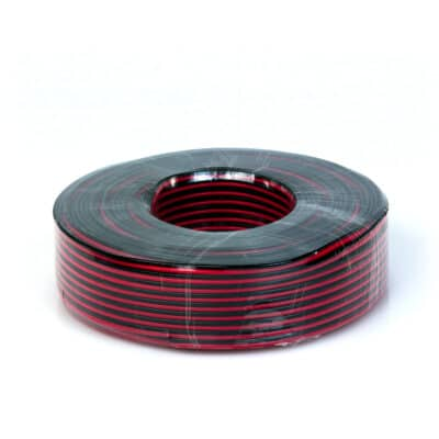 Master Audio QX5100-0.5 Καλώδιο ηχείου 2×0.50mm κόκκινο-μαύρο (100M)