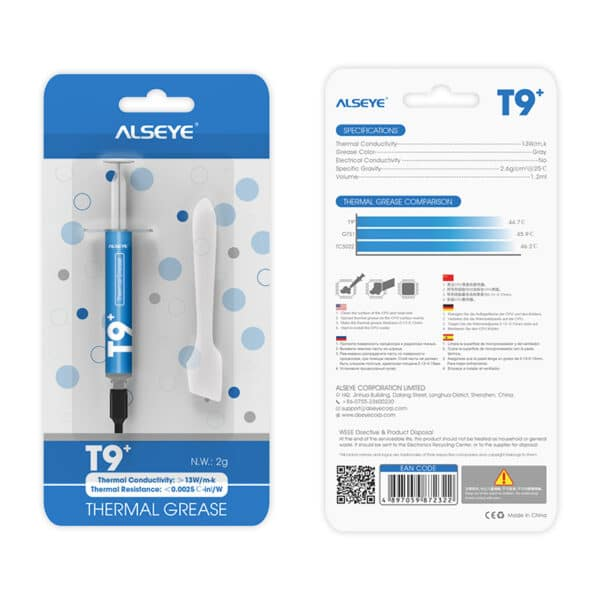 Alseye T9+ Thermal Grease 2gr 13W/m.k 4