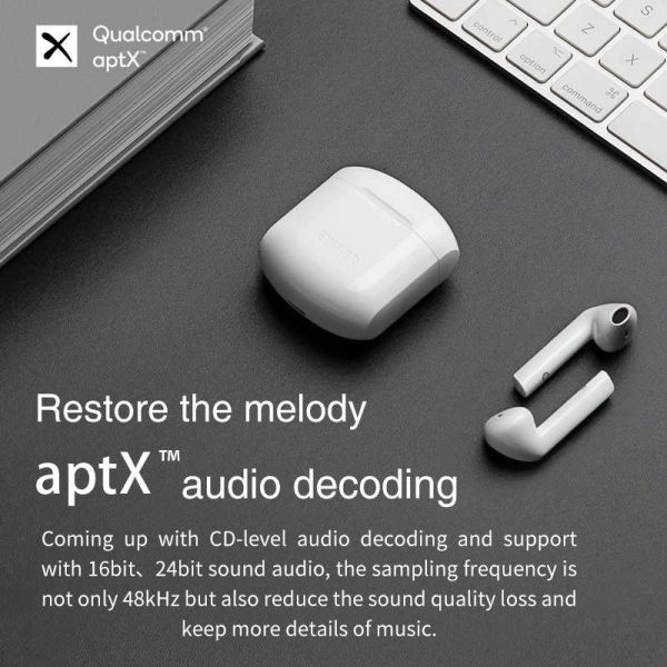 EDIFIER TWS200 True Wireless Stereo Earbuds Bluetooth v5.0 aptX, Black 5