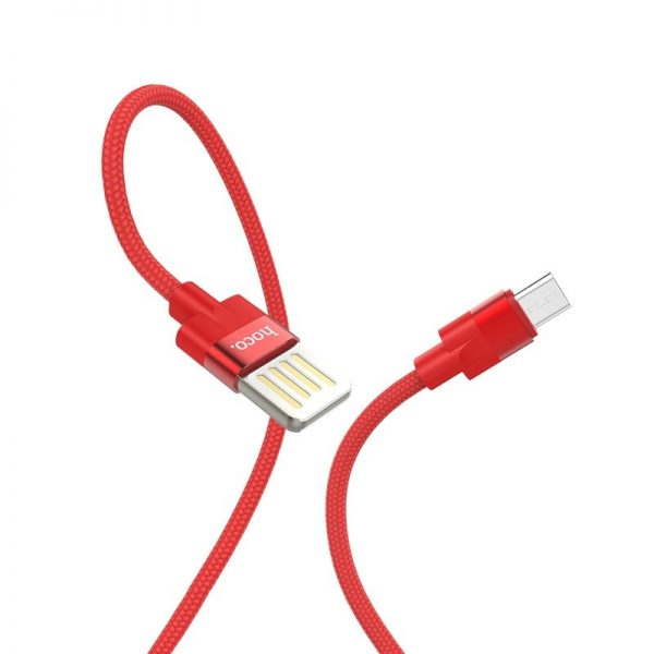 HOCO U55 Outstanding USB to Micro-USB charging data cable 1.2m, Red