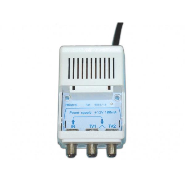 MISTRAL PS-100F Tροφοδοτικό ενισχυτή κεραίας με ακροδέκτες 12VDC 50mA (0555) 2