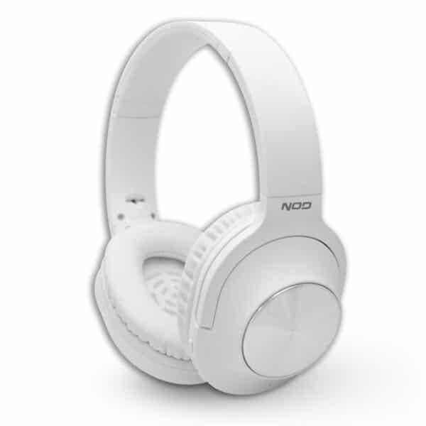 NOD Playlist Bluetooth over-ear ακουστικά με μικρόφωνο, σε λευκό χρώμα