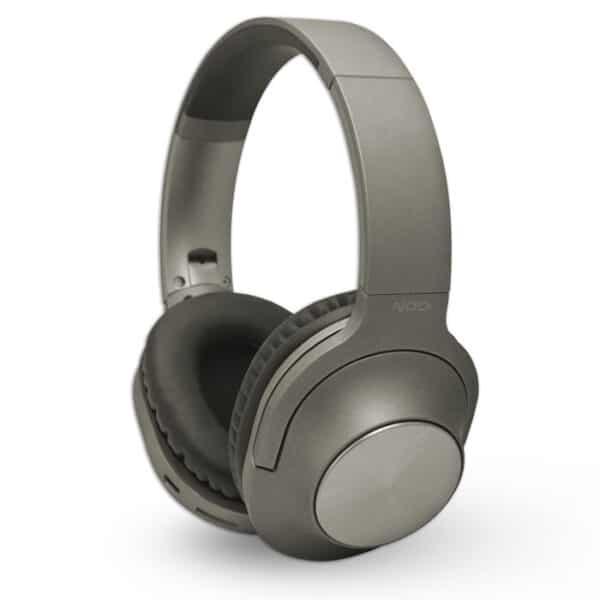 NOD Playlist Bluetooth over-ear ακουστικά με μικρόφωνο, σε γκρι χρώμα