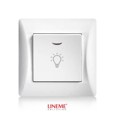 LINEME Μπουτόν κλιμακοστασίου με λυχνία H Series, Λευκό (50-00107-1)