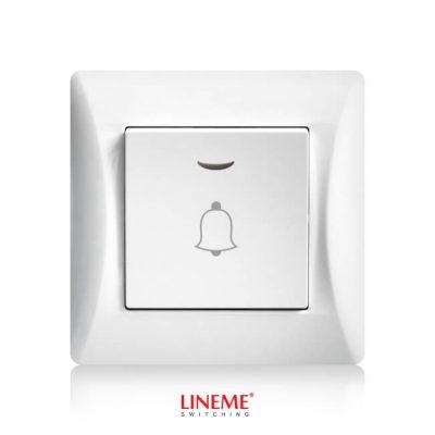 LINEME Μπουτόν κωδώνου με λυχνία H Series, Λευκό (50-00108-1)