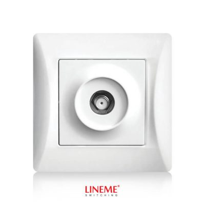 LINEME Πρίζα SAT H Series, Λευκή 50-00117-1