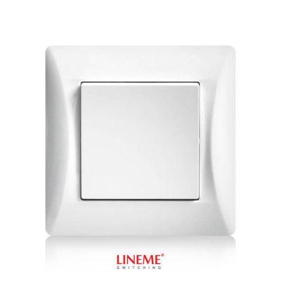 LINEME Διακόπτης διπολικός H Series, Λευκός (50-00131-1)