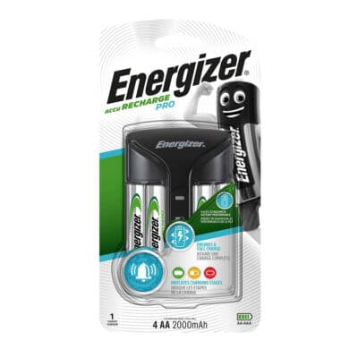 Energizer ACCU Recharge PRO Φορτιστής Μπαταριών για AA/AAA με 4 ΑΑ 2000mAh Μπαταρίες