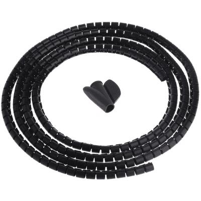 COM Spiral Οργανωτής Καλωδίων 15mm 2m, Μαύρος (05.832)