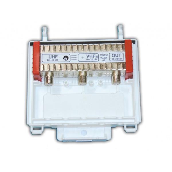 MISTRAL VU3SF40 Σετ Ενισχυτή κεραίας 40dB με φίλτρο LTE & τροφοδοτικό 1