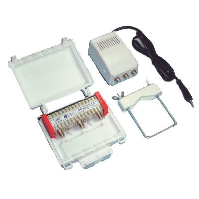 MISTRAL VU3SF40 Σετ Ενισχυτή κεραίας 40dB με φίλτρο LTE & τροφοδοτικό
