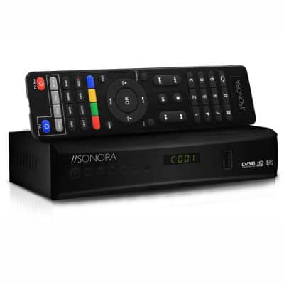 SONORA DVB T2-265 DR Επίγειος ψηφιακός δέκτης MPEG-4 H.265 Full HD με τηλεχειριστήριο 2 σε 1