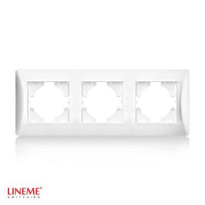 LINEME Πλαίσιο τριπλό οριζόντιο λευκό 50-00123-1