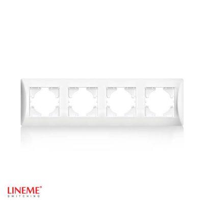 LINEME Πλαίσιο τετραπλό οριζόντιο λευκό 50-00124-1
