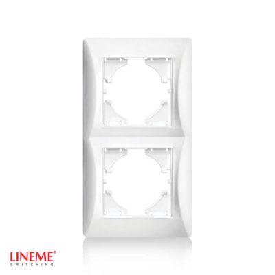 LINEME Πλαίσιο διπλό κάθετο λευκό 50-00126-1
