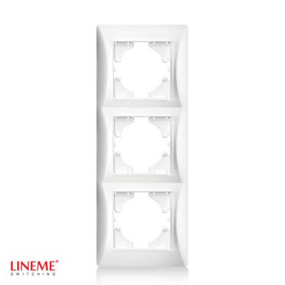 LINEME Πλαίσιο τριπλό κάθετο λευκό 50-00127-1