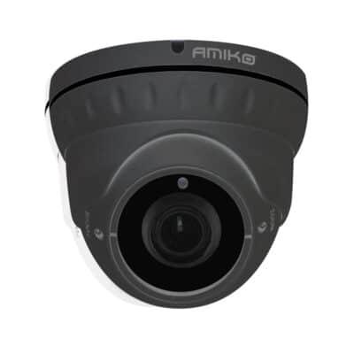 AMIKO AHD 2MP 1080p Dome Κάμερα Varifocal 2.8-12mm 24LEDs 30m IP66 Μεταλλική D30M200MF-AHD, Γκρι