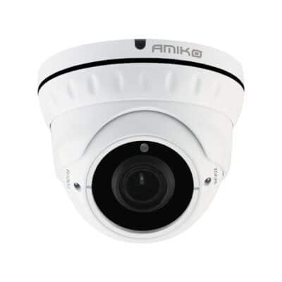AMIKO AHD 2MP 1080p Dome Κάμερα Varifocal 2.8-12mm 24LEDs 30m IP66 Μεταλλική D30M200MF-AHD, Λευκή