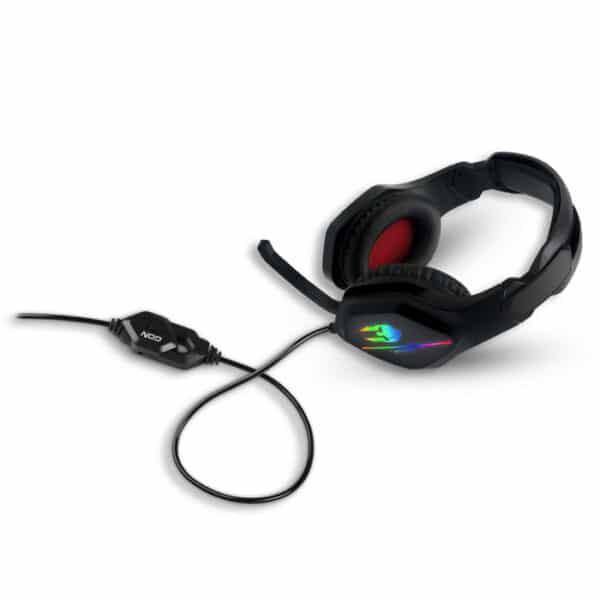 NOD IRON ΣOUND v2 Gaming headset με μικρόφωνο & RGB LED φωτισμό 3