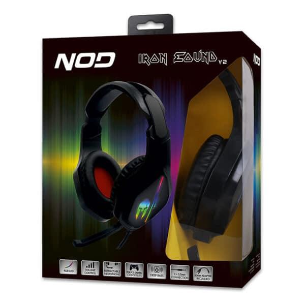 NOD IRON ΣOUND v2 Gaming headset με μικρόφωνο & RGB LED φωτισμό 5