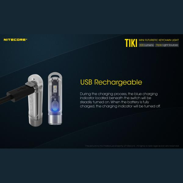NITECORE TIKI LE Φακός LED Μπρελόκ 300lm Black 5