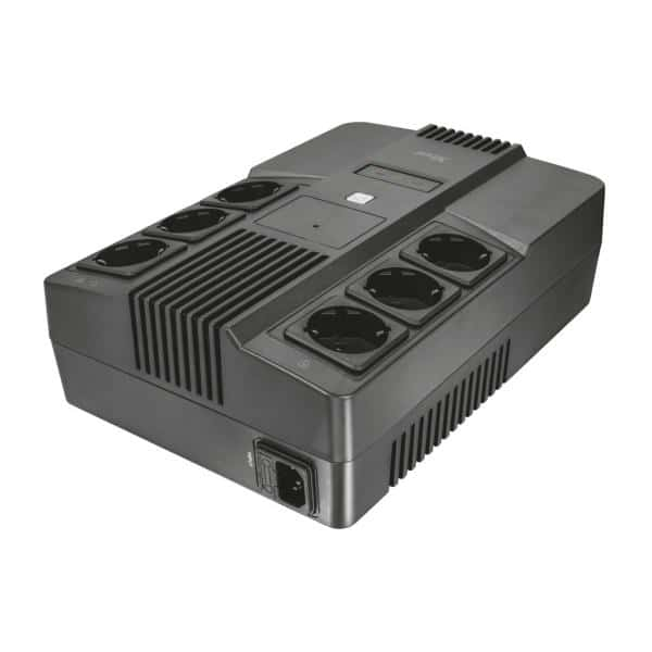 TRUST Maxxon 800VA UPS with 6 standard wall power outlets (23326)