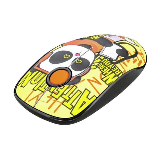 TRUST Sketch Silent Click Wireless Mouse Yellow 23337