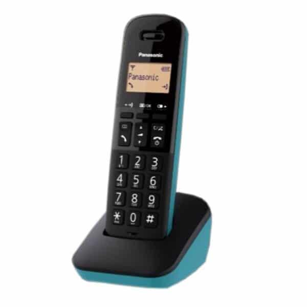 PANASONIC KX-TGB610 Ψηφιακό Ασύρματο Τηλέφωνο Μαύρο - Τυρκουάζ