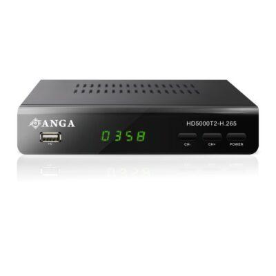 ANGA HD5000T2-H.265 Επίγειος Ψηφιακός αποκωδικοποιητής MPEG4 Full HD DVB-T2 HEVC