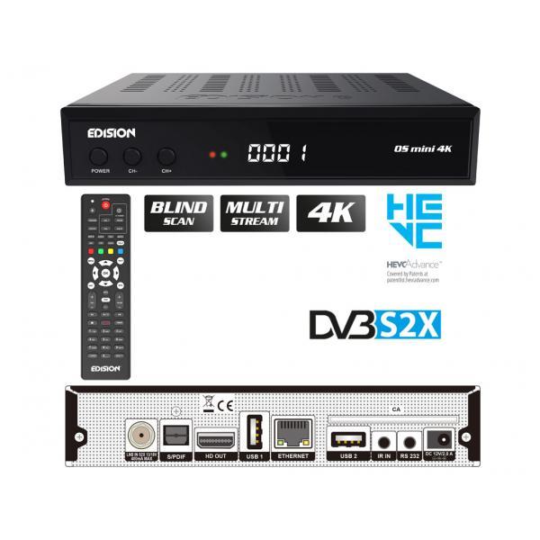 EDISION OS MINI 4K S2X Δορυφορικός Δέκτης E2 LINUX 4Κ UHD DVB-S2X