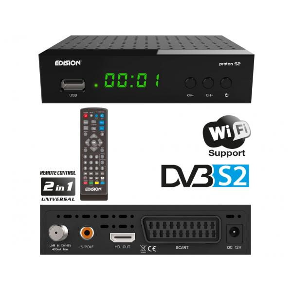 EDISION PROTON S2 Ψηφιακός Δορυφορικός δέκτης FTA DVB-S2