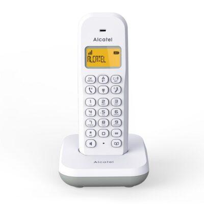 ALCATEL E195 Ασύρματο Τηλέφωνο με Φωτιζόμενη Οθόνη Λευκό
