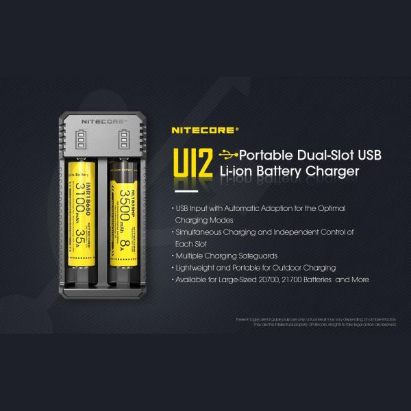 NITECORE UI2 Φορτιστής Μπαταριών Li-ion 2 Θέσεων μέσω USB 6