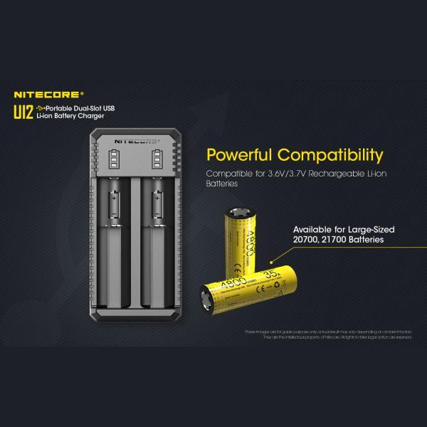 NITECORE UI2 Φορτιστής Μπαταριών Li-ion 2 Θέσεων μέσω USB 7