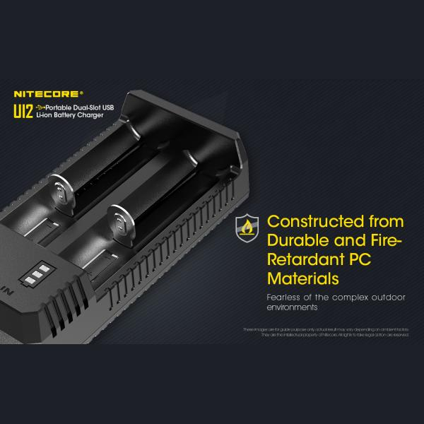 NITECORE UI2 Φορτιστής Μπαταριών Li-ion 2 Θέσεων μέσω USB 10