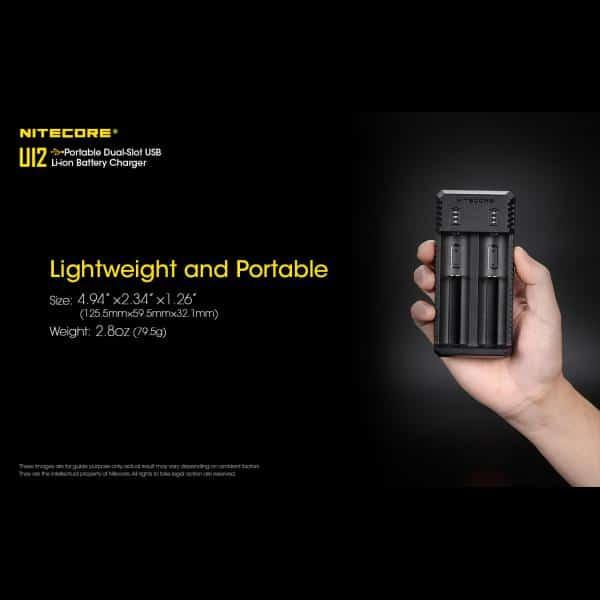 NITECORE UI2 Φορτιστής Μπαταριών Li-ion 2 Θέσεων μέσω USB 11