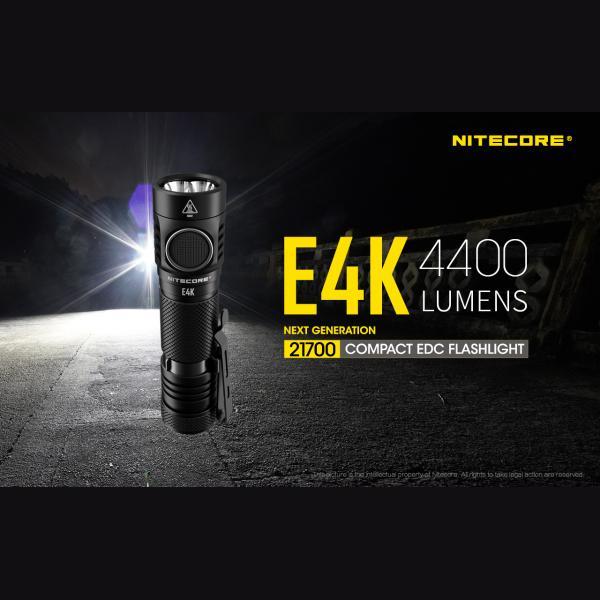 NITECORE E4K Φακός LED 4400lm + NL2150HPR 5000mAh 15A 25