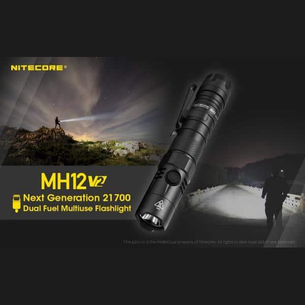 NITECORE MH12 v2 Φακός LED Multi Task Hybrid, 1200lm 25