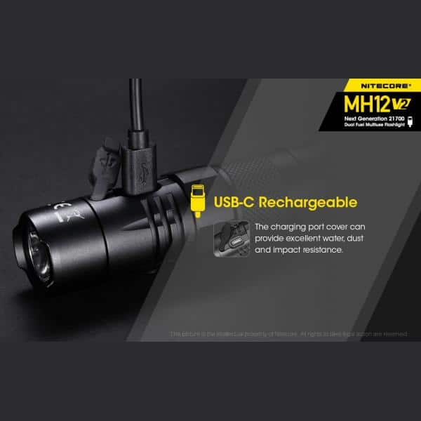 NITECORE MH12 v2 Φακός LED Multi Task Hybrid, 1200lm 18